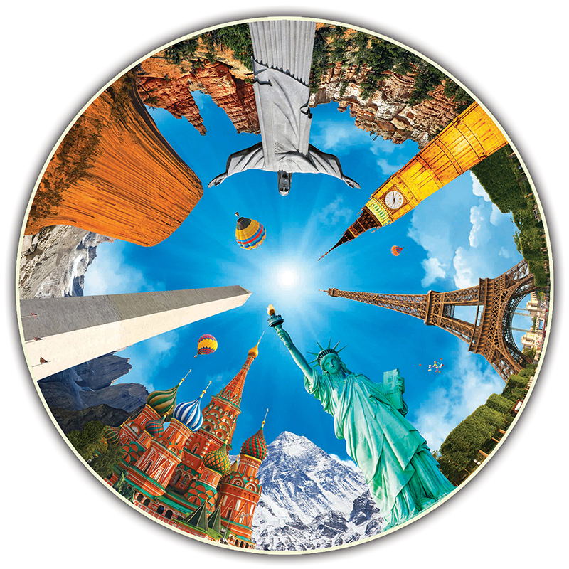 Image for Round Table Puzzle, Legendary Landmarks, 500-Piece