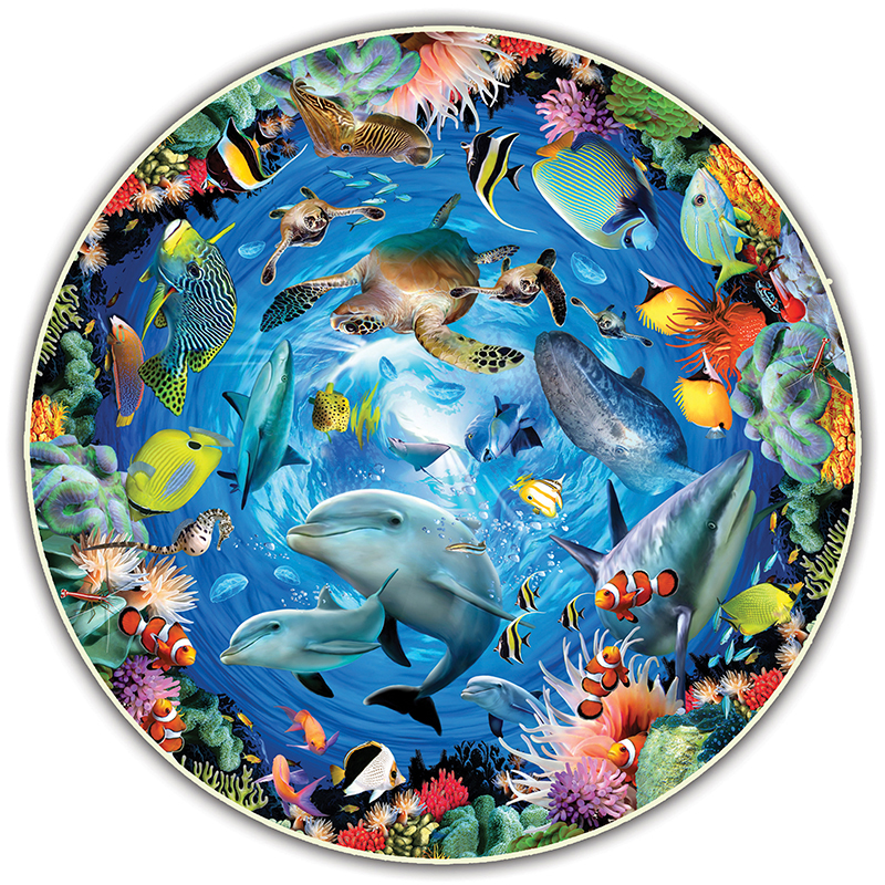 Image for Round Table Puzzle, Ocean View, 500-Piece