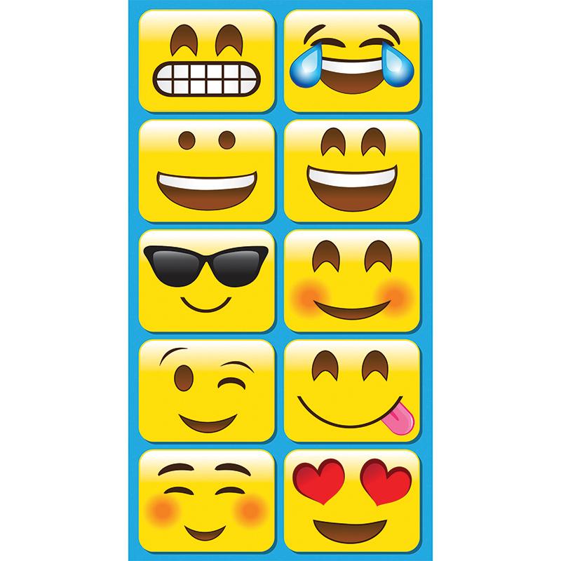 Ashley Productions, Inc Ashley Emojis Mini Whiteboard Eraser - 2 Width X 1.25 Length - Lightweight, Comfortable Grip - Multicolor - 10 / Pack
