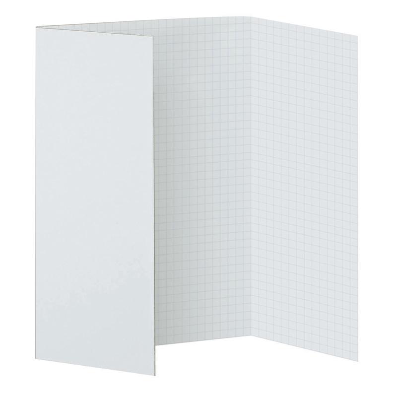 Pacon Corporation Pacon Fade-away Foam Presentation Boards - 22 Height X 28 Width - White Foam, Paper Surface - Sturdy, Tri-fold, Fade-away Grid - 3 / Carton