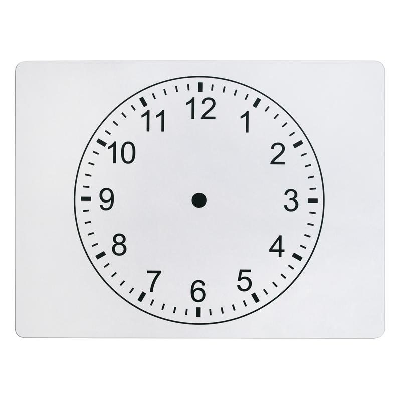 Pacon Clockface 2-sided Whiteboard - 9