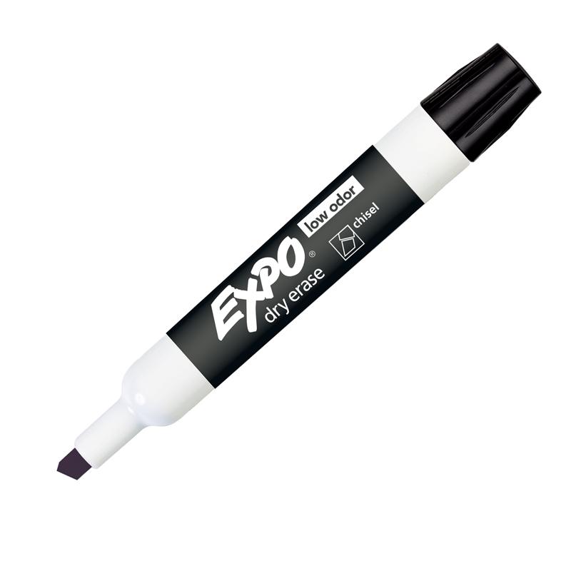 Sanford, L.p. Expo Low-odor Dry Erase Chisel Tip Markers - Bold Marker Point - Chisel Marker Point Style - Black