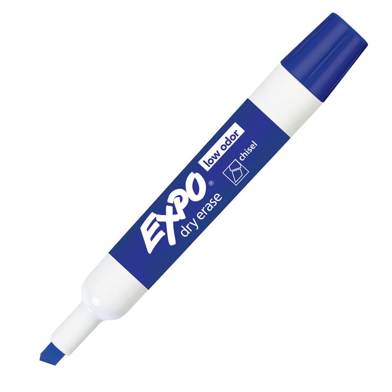 Sanford, L.p. Expo Low-odor Dry Erase Chisel Tip Markers - Bold Marker Point - Chisel Marker Point Style - Blue