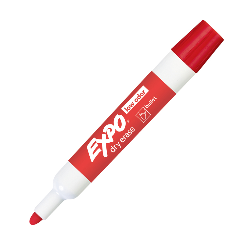 Sanford, L.p. Expo Bold Color Dry-erase Markers - Bullet Marker Point Style - Red