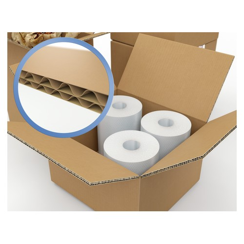 Corrugated Box Double Wall 305x305x305 Brown Pack 15
