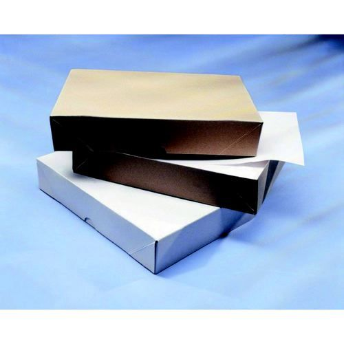 White Stationery Box With Lid A4 1 Ream 305mm X 216mm X 57mm Pack 50
