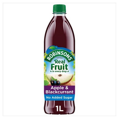 Robinsons Squash No Added Sugar 1 Litre Apple & Blackcurrant Ref 0402013 Pack 12