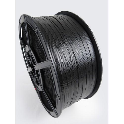 Polypropylene Hand Strapping Black 12mmx2000m 135Kg Break Plastic Reels
