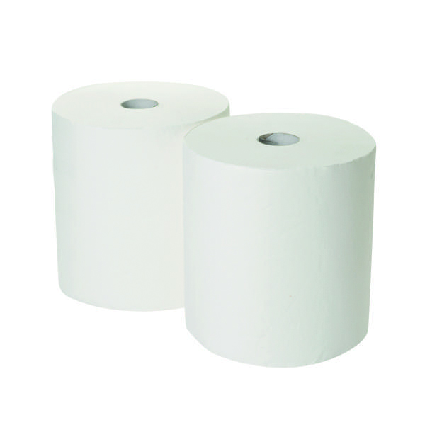 2Work 3-Ply Industrial Roll 170m White (Pack of 2) GEM503B
