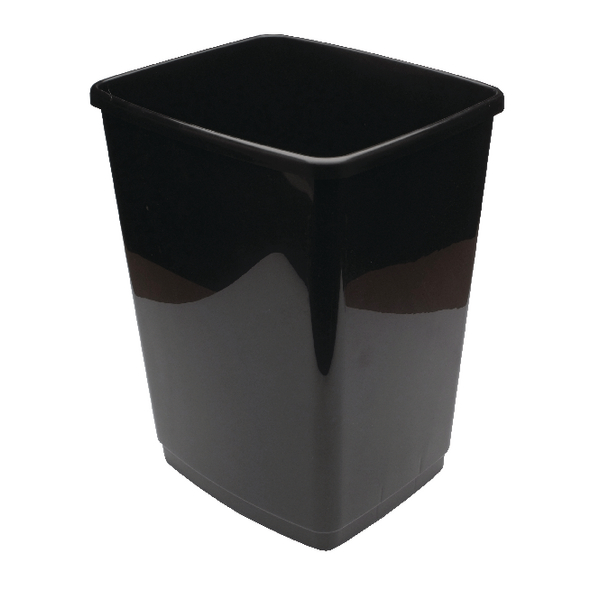 Image for 2Work Swing Bin Base 30 Litre Black 2W02383