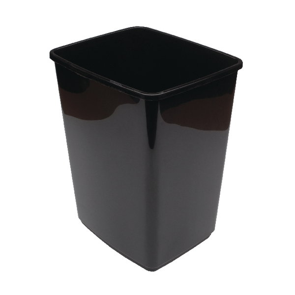Image for 2Work Swing Bin Base 10 Litre Black 2W02385