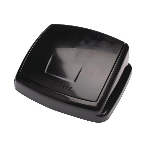 2Work Swing Bin Lid 50 Litre Plastic Black H10L26LVW