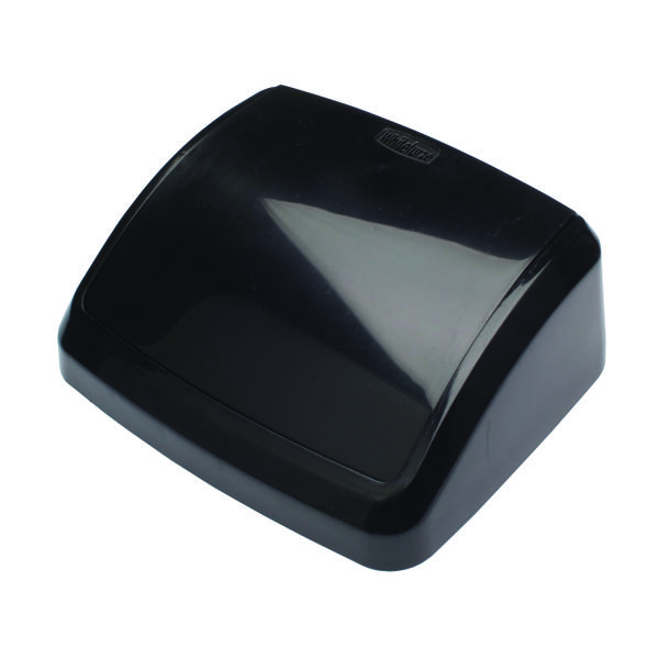 2Work Swing Bin Lid 10 Litre Plastic Black