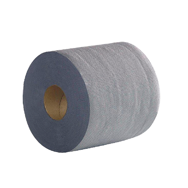 2Work 2-Ply Centrefeed Roll 100m Blue (Pack of 6)