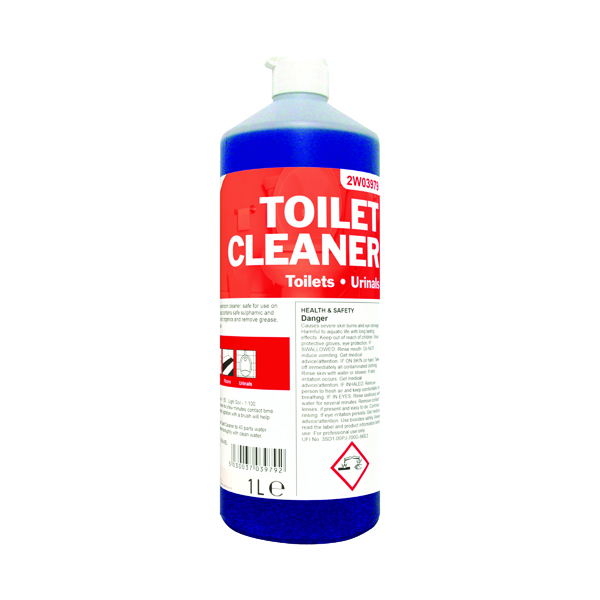2Work Antibacterial Daily Use Toilet Cleaner Perfumed 1 Litre 510