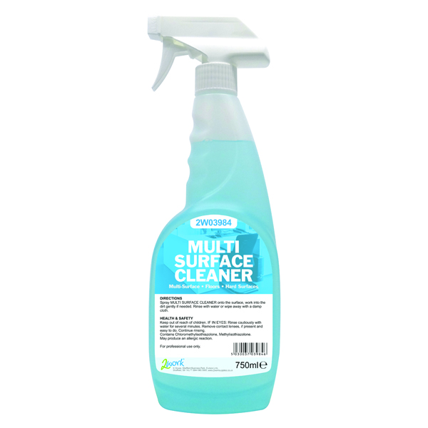 2Work Multi-Surface Cleaner Trigger Spray Streak-Free 750ml 497