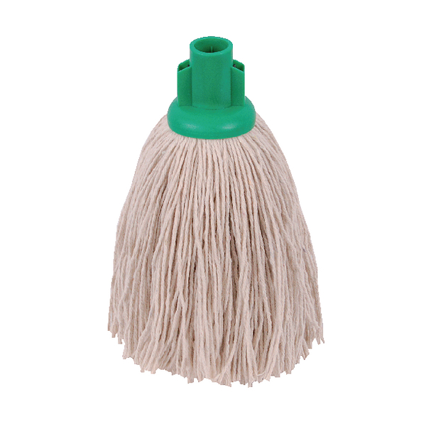 2Work Twine Rough Socket Mop 12oz Green (Pack of 10) 101851G