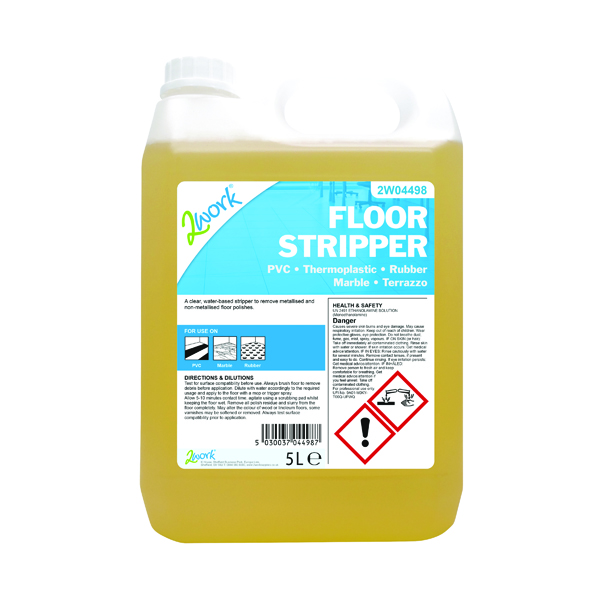 2Work Floor Stripper Non-Rinse Formula 5 Litre Bulk Bottle