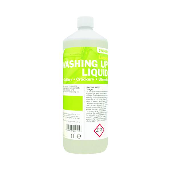 2Work Washing Up Liquid Lemon 1 Litre 401