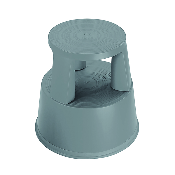 Image for 2Work Plastic Step Stool Dark Grey T7/Dgrey