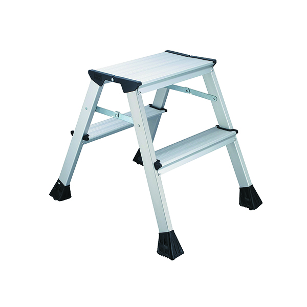 2Work Mini 2-Step Ladder Metal 460mm L2