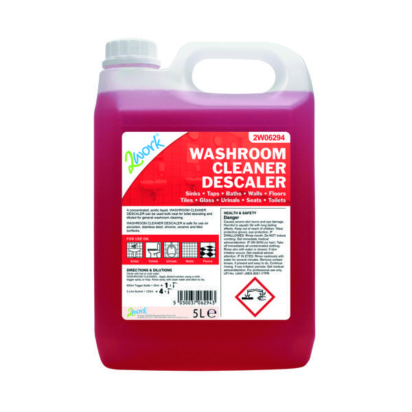2Work Washroom Cleaner and Descaler 5 Litre