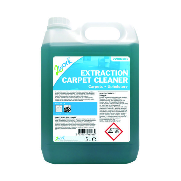 2Work Extraction Carpet Cleaner Concentrate 5 Litre Bulk Bottle 306