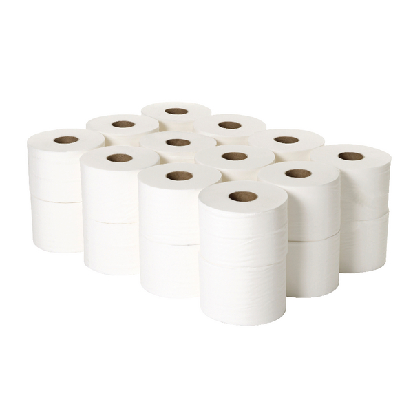 2Work Micro Twin 2-Ply Toilet Roll 125m (Pack of 24) 2W06439