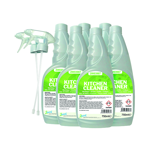 2Work Kitchen Cleaner Degreaser 750ml (Pack of 6) 219