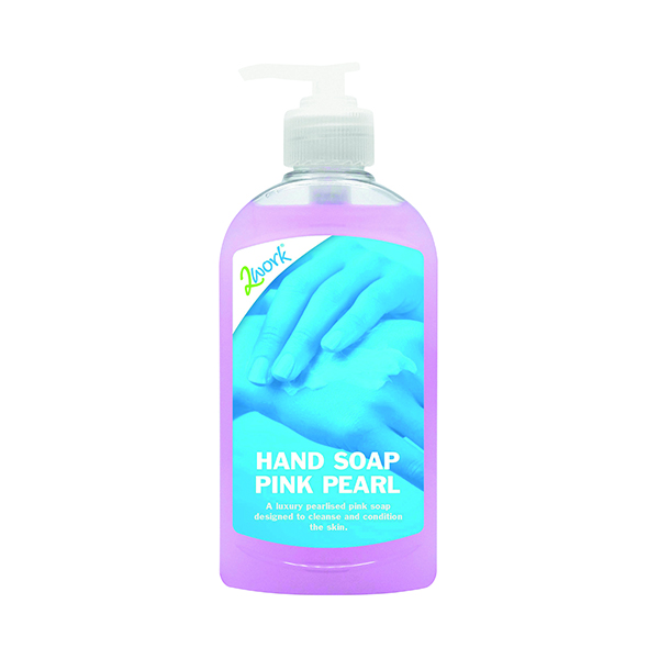 2Work Hand Soap 300ml Pink Pearl (Pack of 6) 402