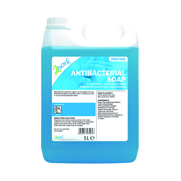 Image for 2Work Antibacterial Soap 5 Litres 212