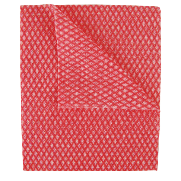 2Work Economy Cloth 420x350mm Red (Pack of 50) 100226R