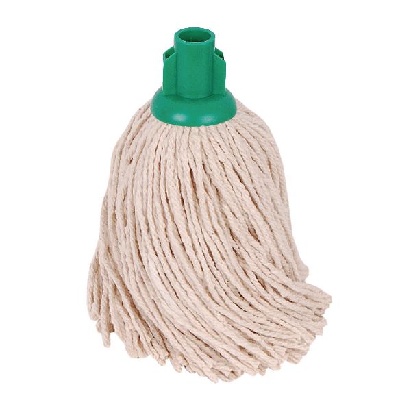 2Work PY Smooth Socket Mop 14oz Green (Pack of 10) 103178G