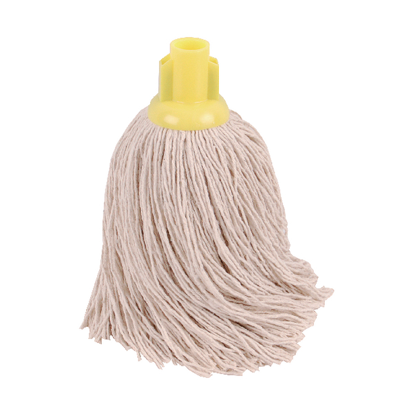 2Work Twine Rough Socket Mop 14oz Yellow (Pack of 10) 101855Y
