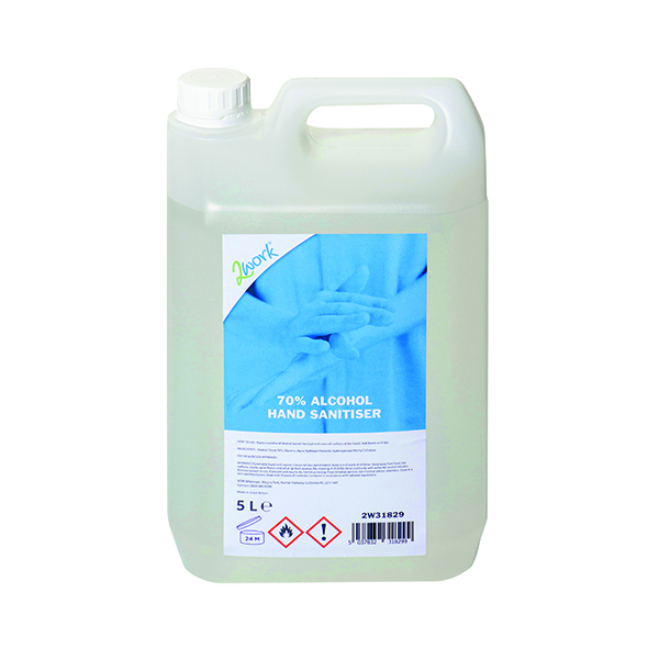 Image for 2Work 70 Percent Alcohol Hand Sanitiser Gel 5L ORC908
