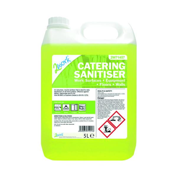 2Work Odourless Catering Sanitiser 5 Litre Bilk Bottle 201TFN
