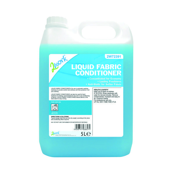 Image for 2Work Liquid Fabric Conditioner for Auto-Dosing Machines 5 Litre 2W72391