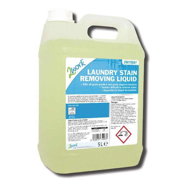 2Work Laundry Stain Removing Liquid 5 Litre Bulk Bottle