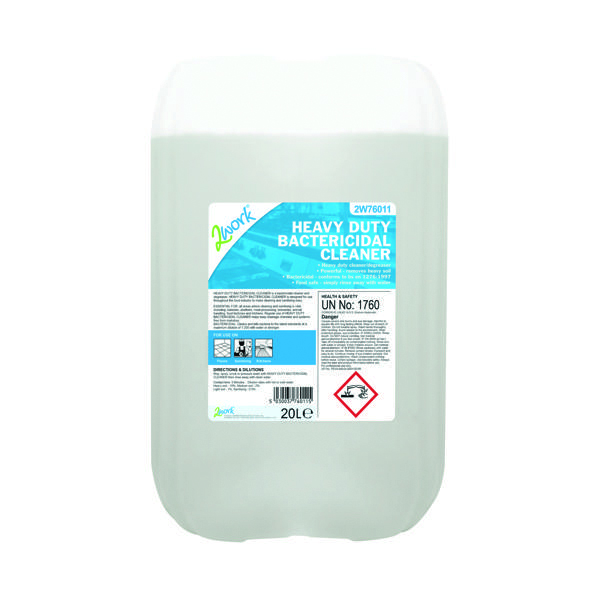 2Work Heavy Duty Bactericidal Cleaner 20 Litre