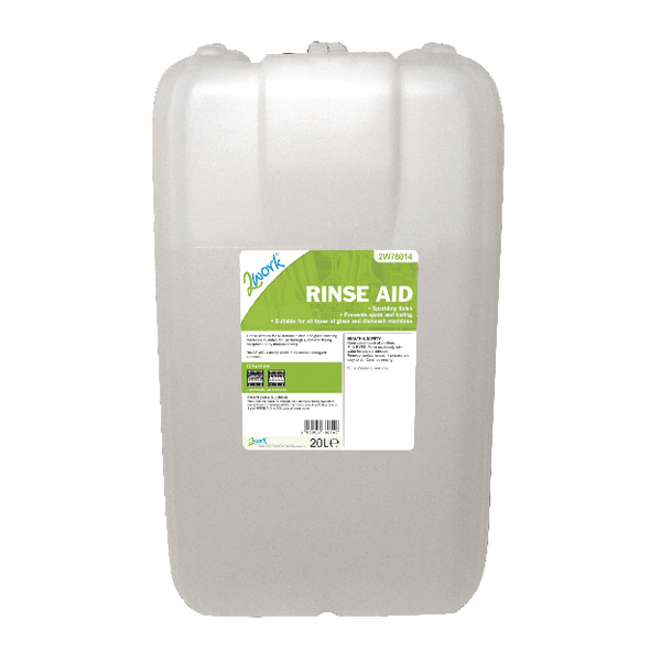 2Work Rinse Aid Additive Solution 20 Litre Bulk Bottle 451