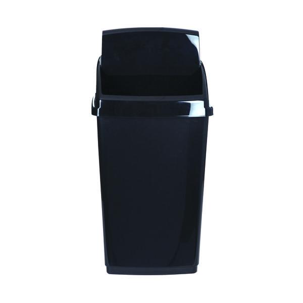2Work Swing Top Bin 30 Litre Capacity Black