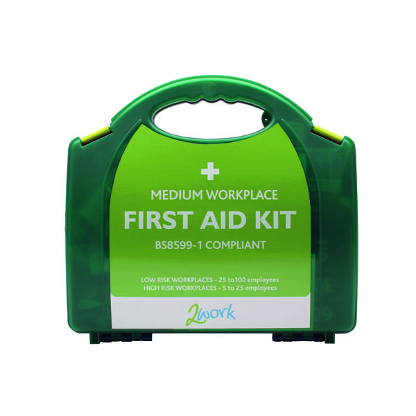 2Work BSI Compliant First Aid Kit Medium for 25 to 100 People