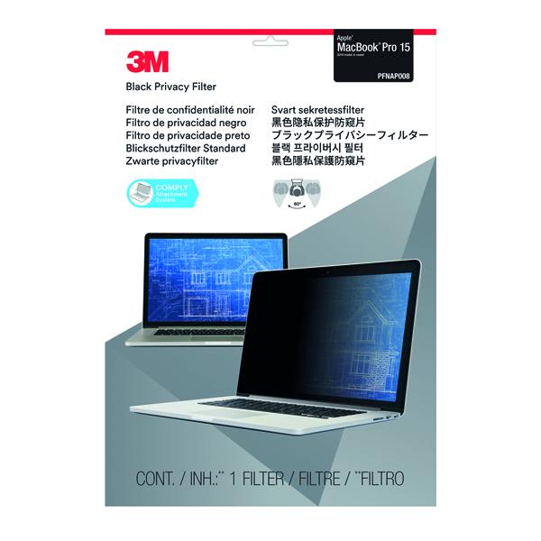 3M Privacy Filter for Apple Macbook Pro 15in 2016 Model PFNAP008