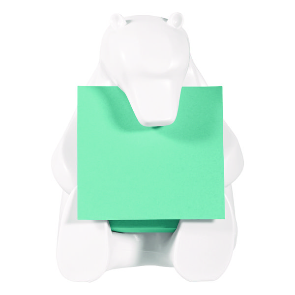 Post-it Z-Note Bear Dispenser/Super Sticky Z-Notes 76 x 76mm BEAR-330