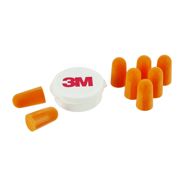 3M Ear Plugs 1100 with Storage Box 1 Kit with 4 Pairs 7100141700