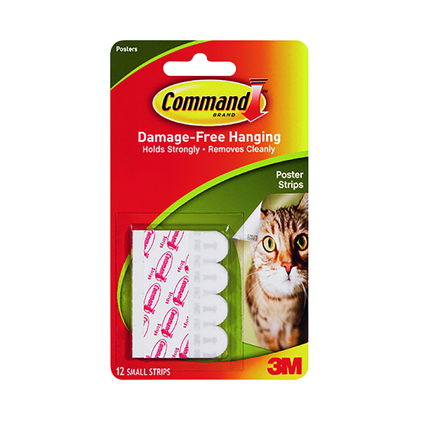 Image for 3M Command Adhesive Poster Strips Small (Pack of 12) 17024