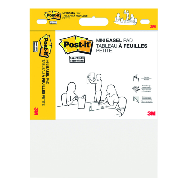 Image for Post-It Super Sticky Mini Meeting Chart 381mm x 457mm White 577SS