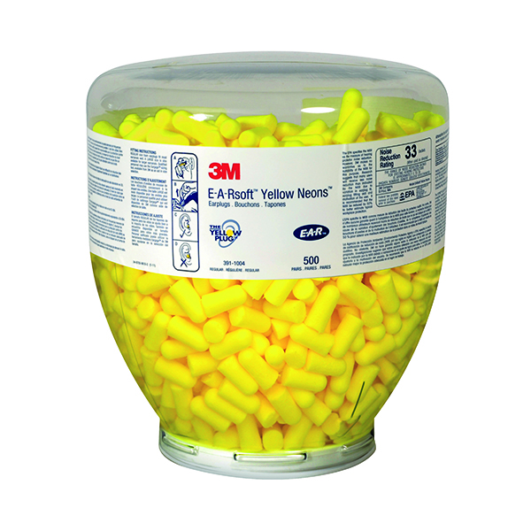 3M E-A-R Soft Yellow Neons Refill Bottle (Pack of 500) PD-01-002