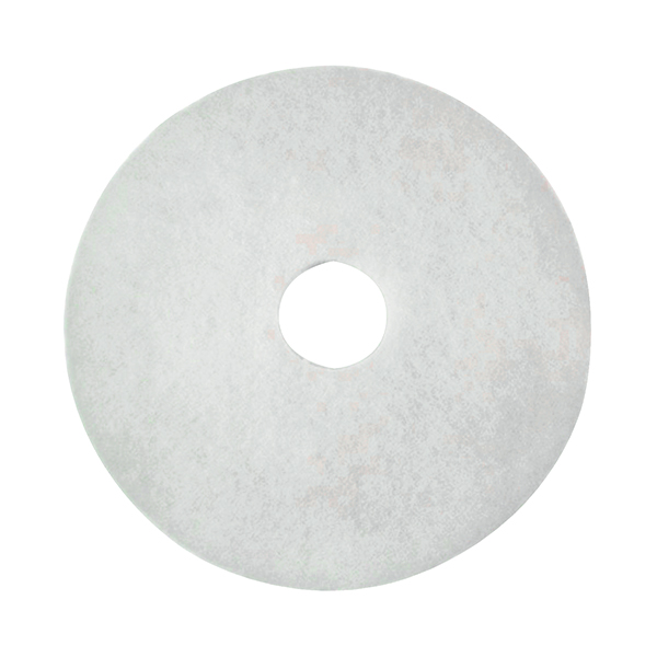 3M Polishing Floor Pad 380mm White (Pack of 5) 2NDWH15