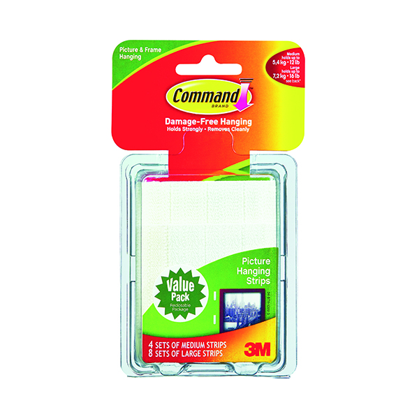 3M Command Picture Hanging Strips Value (Pack of 24) 17209